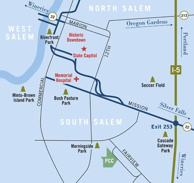 Pringle Creek Community pringle creek community - map ...