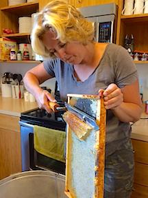 Honey Colleen cutting