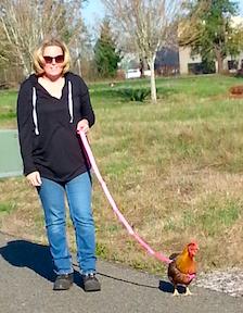 Colleen walking Thursday