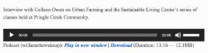 KMUZ Interview Urban Farming